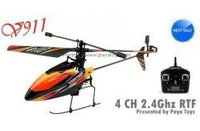 Remote Control Plane - Wl 4 Channel 2.4g Rc Single Blade Helicopter
