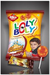 Caramel Flavoured Lollipop (Lolly Bolly)