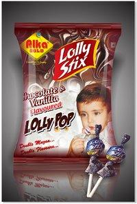 Chocolate Vanila Lollipop (Lolly Bolly)