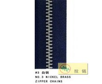 Nickle Brass Zipper