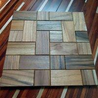 Handmade Mosaic Teak Wood Tile