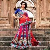 Synthetic Embroidered Saree