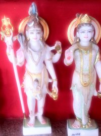 Marble Shiv Parvati Statues