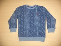 Boys Fake Knit Print Sweater