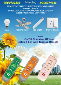 Remote Control For Fans And Lights