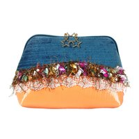 PU Leather Star Snake Print Lace Wallet Coin Purse
