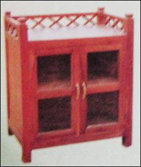 Wooden With Glass Cabinet