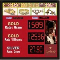 Gold And Silver Rate Display Board