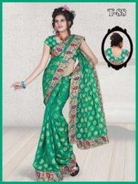 Designer Patch Work Saree