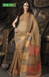 Block Net Saree