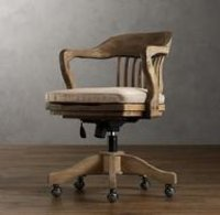 Vintage Wood Office Chair