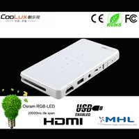 Coolux Q5 Mini Dlp Projector With Mhl Hdmi