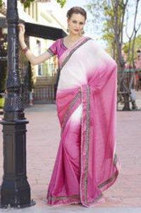 Partywear Designer Pink Saree