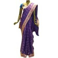 Border With Stone Work Sarees