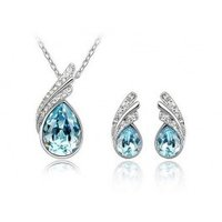 Austria Crystal Full Crystal Drops Pendant Necklace