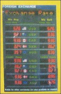 Exchange Rate Display Board