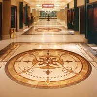 Marble Inlay Floor Tiles