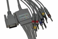 Nihon Kohden One-Piece 10-Lead Cable And Lead Wires