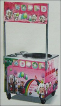 Gas Cotton Candy Machine With Cabinet