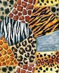 Zebra Patchwork Fabric
