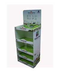 Impact Display Pos Cardboard Floor Shelf Display Stand