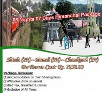 06 Nights And 07 Day Himachal Tour Package Services