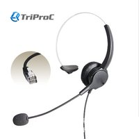 Mono Rj9/Rj11 Headset With Microphone For Call Center