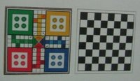Wooden Ludo And Chess Games (Back To Back)