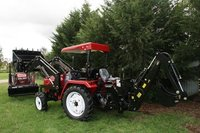 China Cheap Tractor With Front End Loader And Backhoe