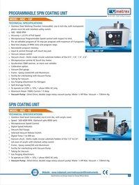 Programmable Spin Coating Unit (Model Msc-10p, Msc-10)