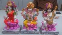 Set Of Laxmi Ganesh And Saraswati Figures