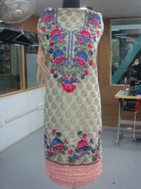 Embroidered Dupatta Suit
