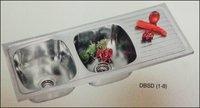 Pansy Double Bowl Single Drain Sink