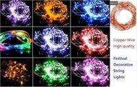 5v Usb 10-Meter Copper String Lights