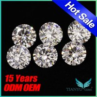 8 Hearts And Arrows Round White Cubic Zirconia