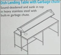 Dish Landing Table With Garbage Chute