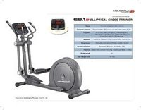Momentum E 8.1 Elliptical Cross Trainer