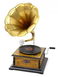 Gramophone With Horn Working