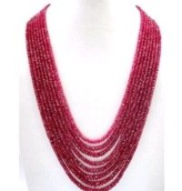 Gemstone Beads Ruby Necklace