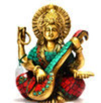Brass Saraswati Goddess Statues