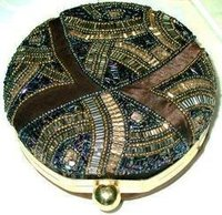 Beaded Box Party Clutch Bag