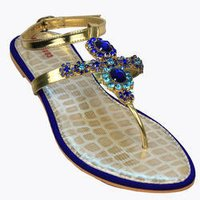 Ladies Beaded Flat Sandals