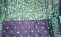 Kantha Stitched Silk Saree
