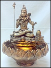 Shiva Statue With Light