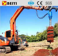 Ground Hole Digger Mini Excavator Mounted Earth Drill