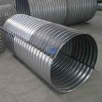Flanged Nestable Corrugated Steel Pipe