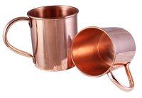 02 Pcs Copper Mug Set