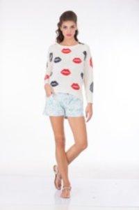Ladies Lips Printed Sweater