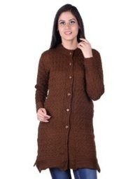 Woolen Long Cardigan