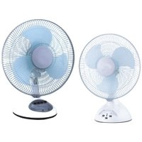 Rechargeable Table Fan With Led Light